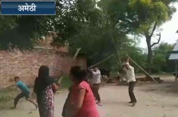 अमेठी में महिला और दो बेटियों की बेरहमी सेे पिटाई, आपको भी रुला देगा यह वायरल वीडियो