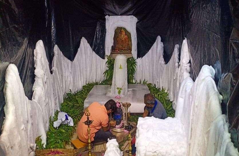 अमरनाथ की तरह कहां हुआ शिव मंदिरों का श्रृंगार, बनाया बर्फ से शिवलिंग