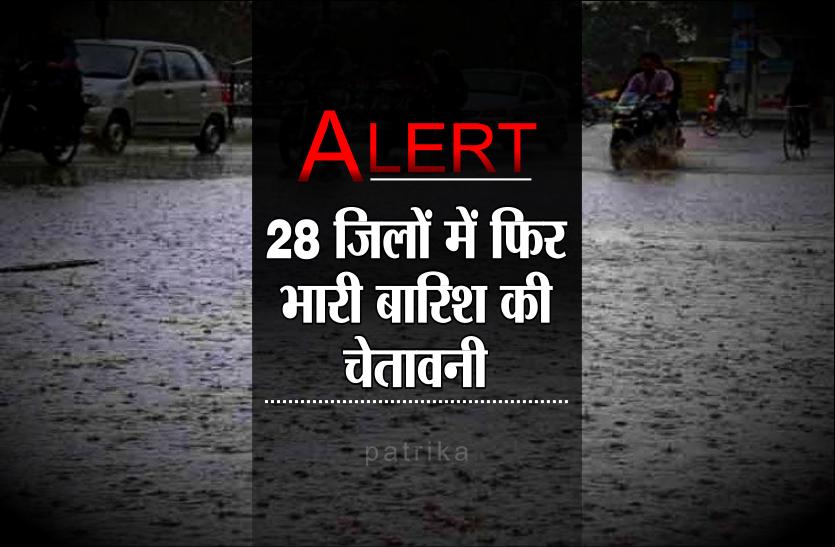 Heavy Rain Alert: मौसम विभाग ने जारी किया भारी बारिश का अलर्ट, 28 जिलों में सतर्क रहने को कहा