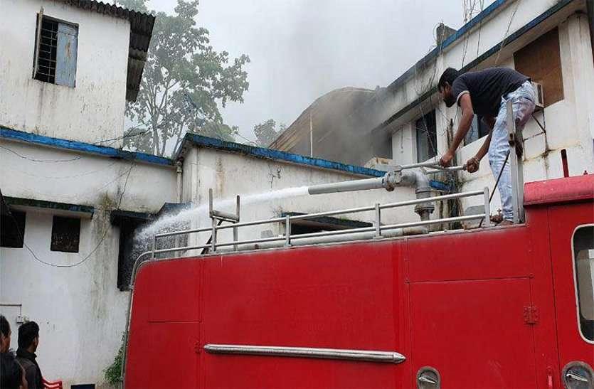 बीजापुर एसपी ऑफिस में भडक़ी आग, बड़ी मशक्कत के बाद पाया काबू