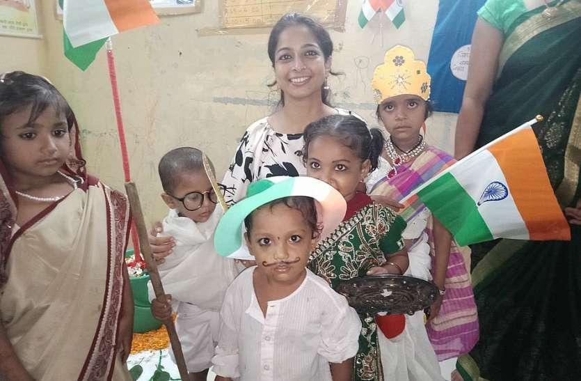 पालनाघर में मनाया स्वतंत्रता दिवस पर्व