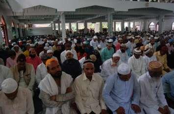 बारिश की आशंका के चलते जामा मस्जिद में हुई नमाज