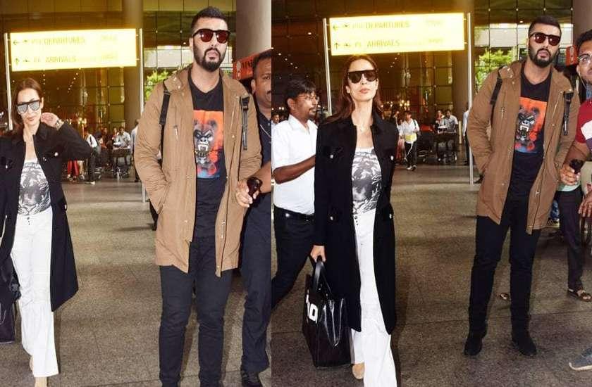 malaika arora and arjun kapoor spot at airport photos