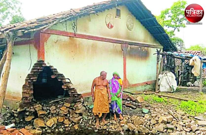 मुख्यमंत्री जल स्वावलम्बन योजना के तहत बने टैंक टूटे, किसानों के मकान बहे, फसलें तबाह, भूखे मरने की नौबत
