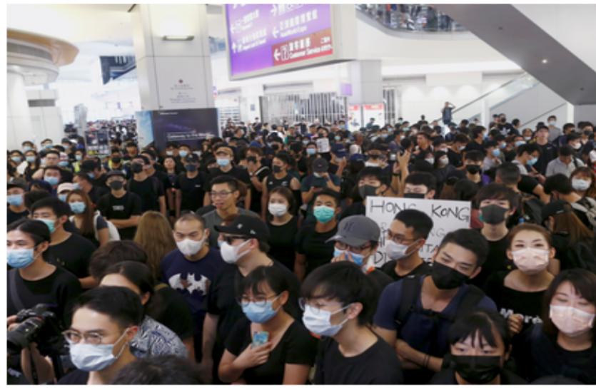 हांगकांग में विरोध-प्रदर्शन तेज, भारत ने अपने यात्रियों के लिए जारी की एडवाइजरी