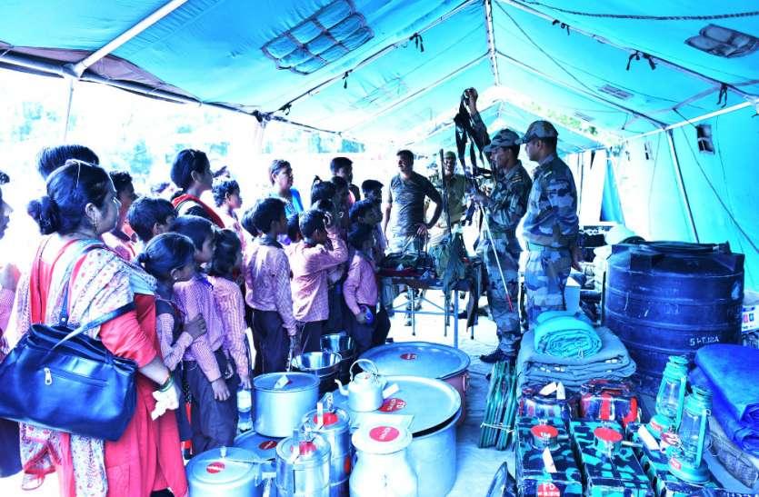 राज्यपाल की पहल पर स्कूली बच्चों ने 'नो योअर आर्मी' प्रदर्शनी देखी