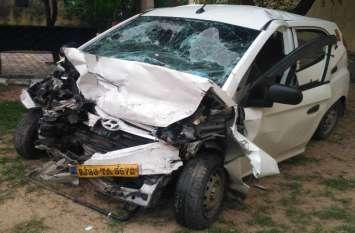 सड़क दुर्घटना में दो की मौत, तीन घायल