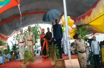 independence day 2019 ऊर्जा मंत्री प्रियव्रत सिंह ने किया झंडा वंदन, देखें वीडियो