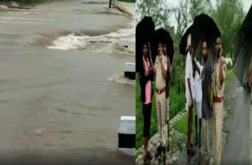 राजस्थान  : भारी बारिश से क्षतिग्रस्त हुई पुलिया, आधा दर्जन गांवों का टूटा सम्पर्क