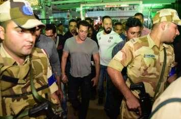 कड़ी सुरक्षा के बीच जयपुर पहुंचे सलमान खान, अगले 7 दिनों तक करेंगे 'दबंग 3' की शूटिंग