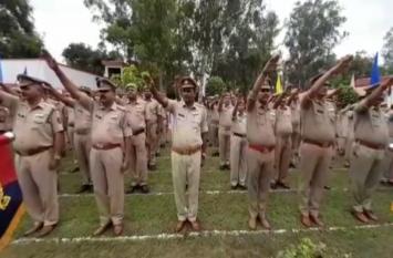 बेस्ट रिस्पांस टाइम देने वाले पुलिसकर्मियों को किया गया सम्मानित