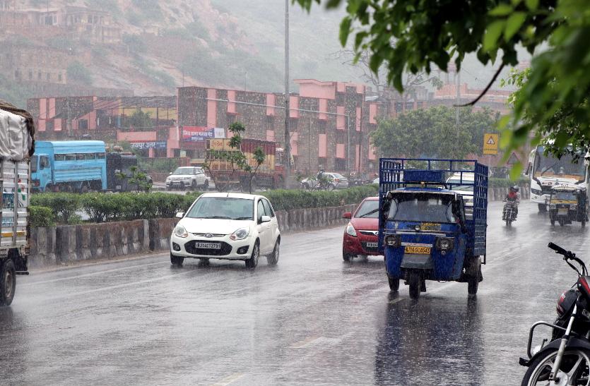 देर से आए मानसून ने पिछले पांच साल का तोड़ा रिकॉर्ड, जयपुर में अब तक 125 फीसदी बरसात
