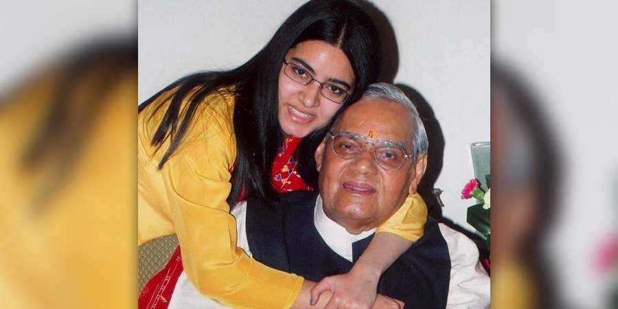 atal bhihari with his step daughter