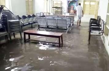 झालावाड़ में मूसलाधार बारिश से बाढ़ के हालात, मकान गिरने से बड़े भाई की मौत, छोटा घायल