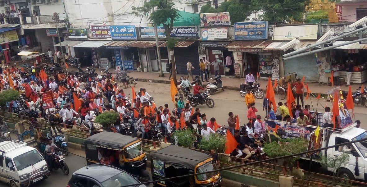 लोधी समाज ने निकाली शोभा-यात्रा व बाइक रैली