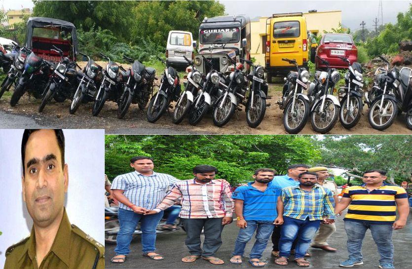 Expose-वाहन चोर गिरोह का पर्दाफाश, सत्रह बाइक व जीप बरामद