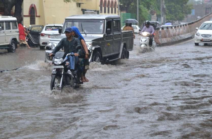 Heavy rain in ajmer: अजमेर में लगातार बरसात, सब जगह पानी ही पानी