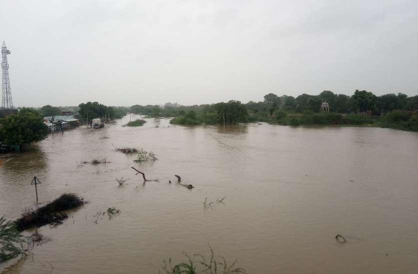 Heavy rain in ajmer: जूनिया और पुष्कर में बाढ़ के हालात