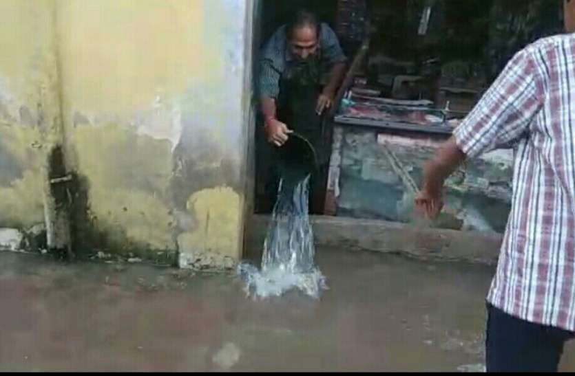 Heavy rain : अजमेर दक्षिण में कई कॉलोनी और मकानों में भरा पानी