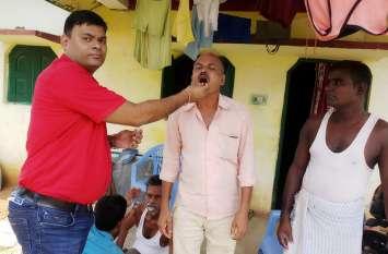 १७ अगस्त को ११० ग्रामों में खिलाई गई तीसरी खुराक
