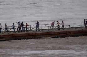 चंबल ने धारण किया रौद्र रूप, पुराने पुल तक पहुंचा पानी..… देखें तस्वीरें