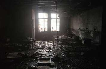 नए बने50 सीटर मातृ शिशु अस्पताल में लगी आग, लाखों के नुकसान का अनुमान