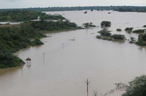 चबल में उफान, तटवर्ती इलाकों में बाढ़ के हालात