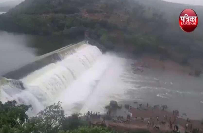 गोवटा बांध की दीवार टूटने से खतरा, 8 गांवों में अलर्ट, पुलिस जाब्ता तैनात