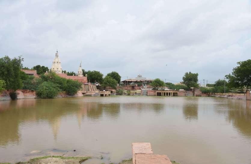 बारिश के पानी से भरने लगे बीकानेर शहर के तालाब : देखें फोटो