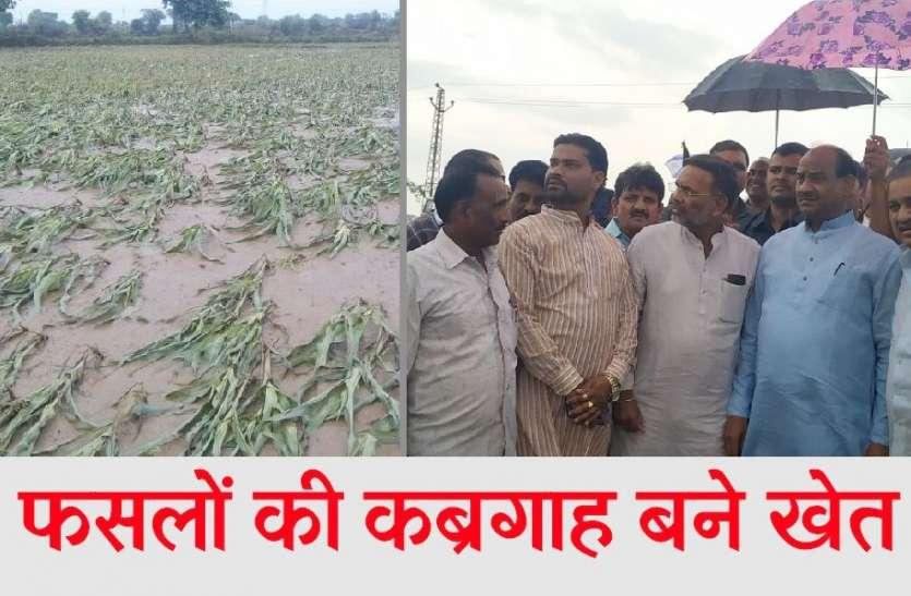 लोकसभा अध्यक्ष ने देखी खेतों में डूबी फसलें, किसानों को दी सांत्वना, अफसरों को सर्वे के निर्देश