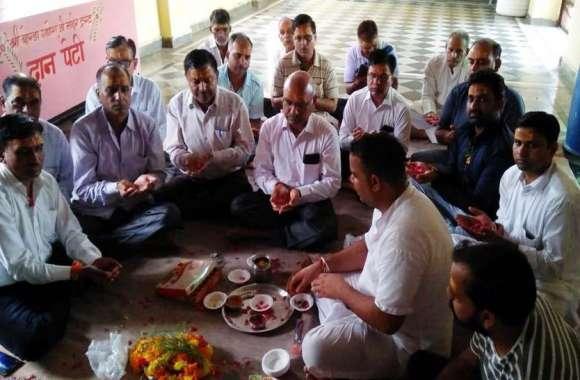 गंगागुरिया बालाजी मन्दिर में अखण्ड रामचरित मानस पाठ शुरू