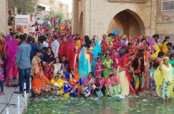 Kajali Teej 2019:हर्षोल्लास से मनाई कजली तीज,घरों में बनाए सत्तू