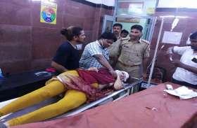 सड़क हादसे में विदेशी महिला गंभीर रूप से घायल, वाराणसी के ट्रामा सेंटर में कराया गया भर्ती