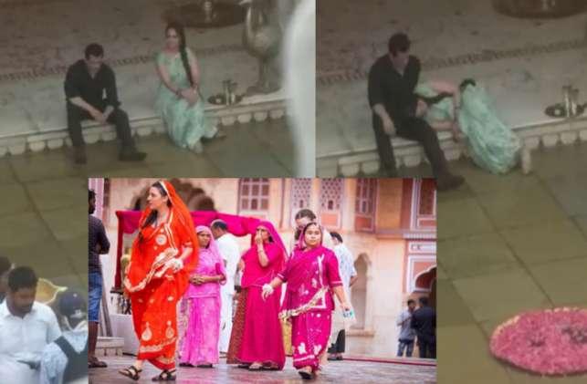 Salman Khan ,Salman Khan news ,Salman Khan latest news ,Dabangg,सलमान,सोनाक्षी,अंदाज,ठुमका,सेट,तस्वीर,वायरल