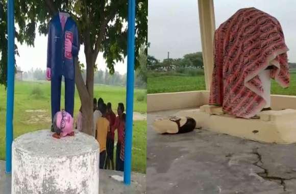यूपी के आजमगढ़ में दो जगहों पर तोड़ी गई अंबेडकर प्रतिमा, इलाके में तनाव
