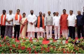 येडियूरप्पा कैबिनेट में 17 मंत्री शामिल