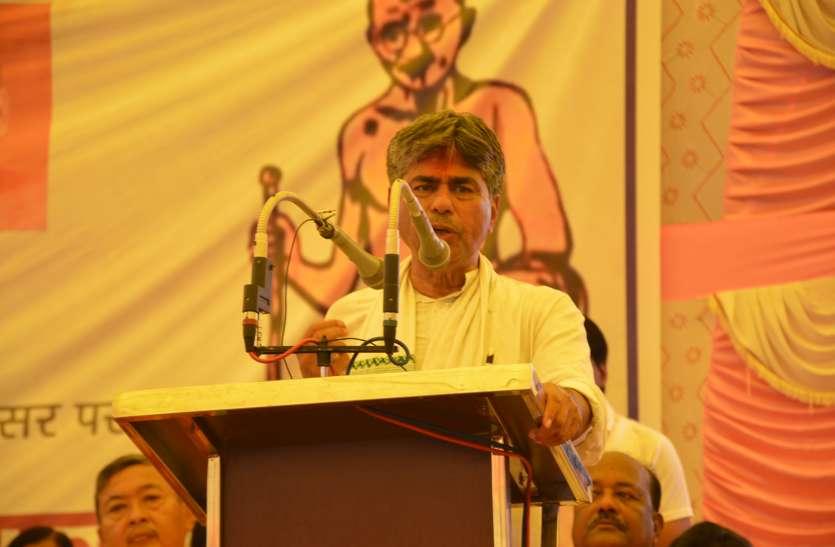 ग्राम स्वराज पदयात्रा में बोले गांधीवादी चिंतक डॉ. राजगोपाल पीवी : जय जगत- जय जगत पुकारे जा