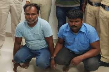 २ किलो ३०० ग्राम अफीम के साथ बाइक पर दो गिरफ्तार