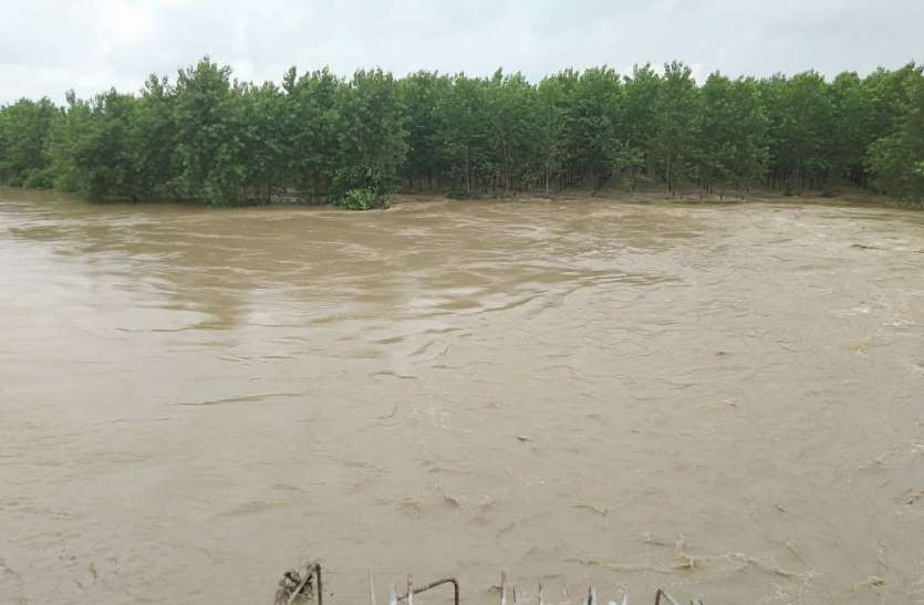 लगातार बरसात से यूपी के सहारनपुर में बाढ़ जैसे हालात देखें Photo