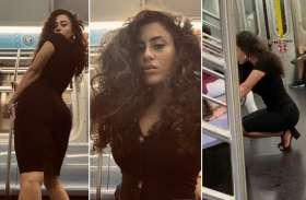 ट्रेन में खुद का फोटोशूट करती लड़की का Video viral वायरल, लोगकर रहे हैं तारीफ
