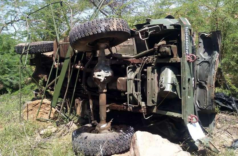 बुरी खबर : बाड़मेर में 100 फीट गहरी खाई में गिरा भारतीय वायु सेना का ट्रक, तीन जवानों की मौत