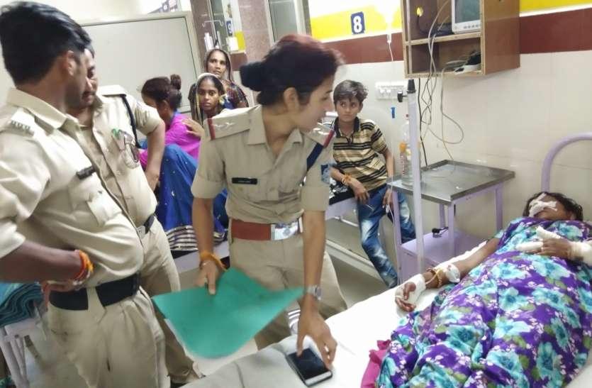 चरित्र संदेह में पत्नी की नाक काटी, आरोपी फरार