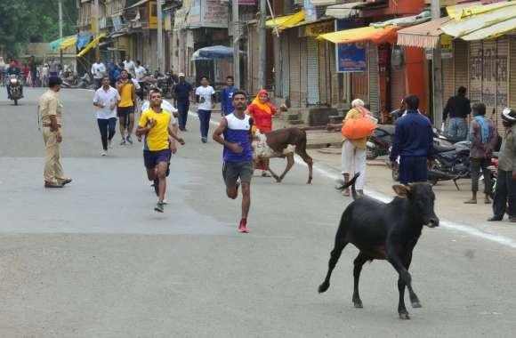 समय पर नहीं निकल पाई सद्भावना दौड़, लोग भी ज्यादा नहीं जुट पाए