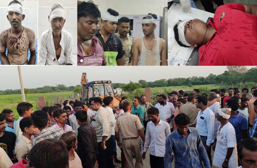 सागरमती नदी में आए पानी का रास्ता बदलने पर लाठी-भाटा जंग, 6 जने जख्मी