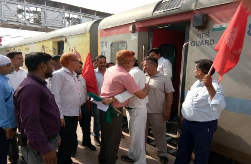 गतिरोध समाप्त, जनशताब्दी ट्रेन को कोटा मण्डल का क्रू स्टाफ लेकर आया