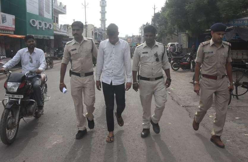 पुलिस ने निकाले सटोरिये व सूदखोरों के जुलूस