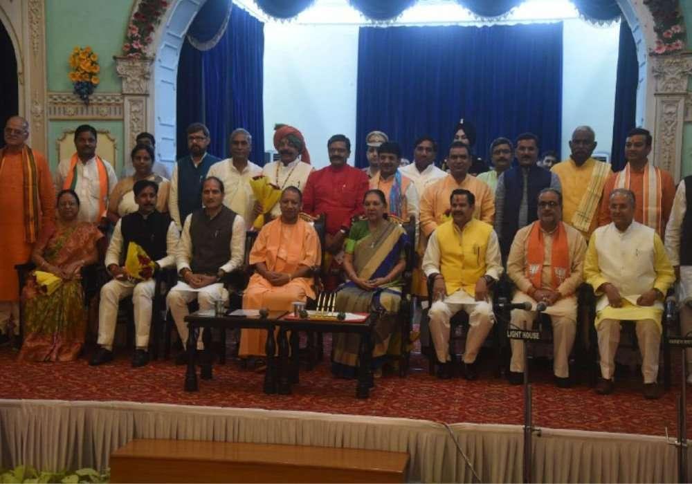 योगी मंत्रिमंडल विस्तार में बृज क्षेत्र से चार नए मंत्रियों ने ली शपथ