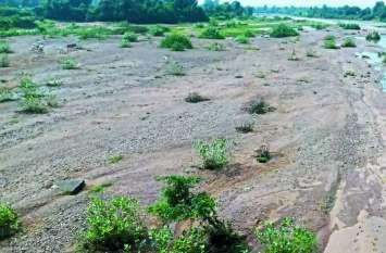 37 इंच बारिश के बाद भी नर्मदा की एक दर्जन सहायक नदियां सूखी, सिर्फ जहां रेत वहां दिख रहा पानी