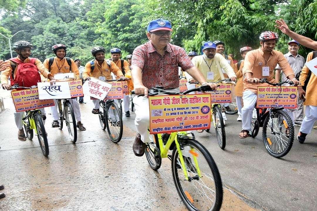 BHU students cycle Yatra
