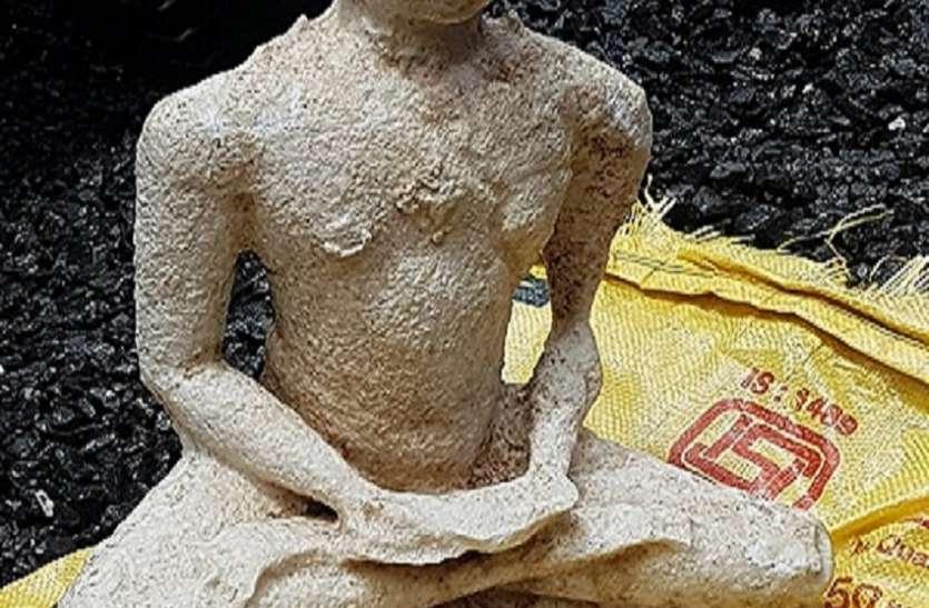Mumbai News : खुदाई में मिली भगवान महावीर की प्राचीन मूर्ति